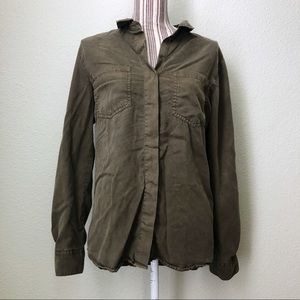 Buttons Button Down Olive Size M